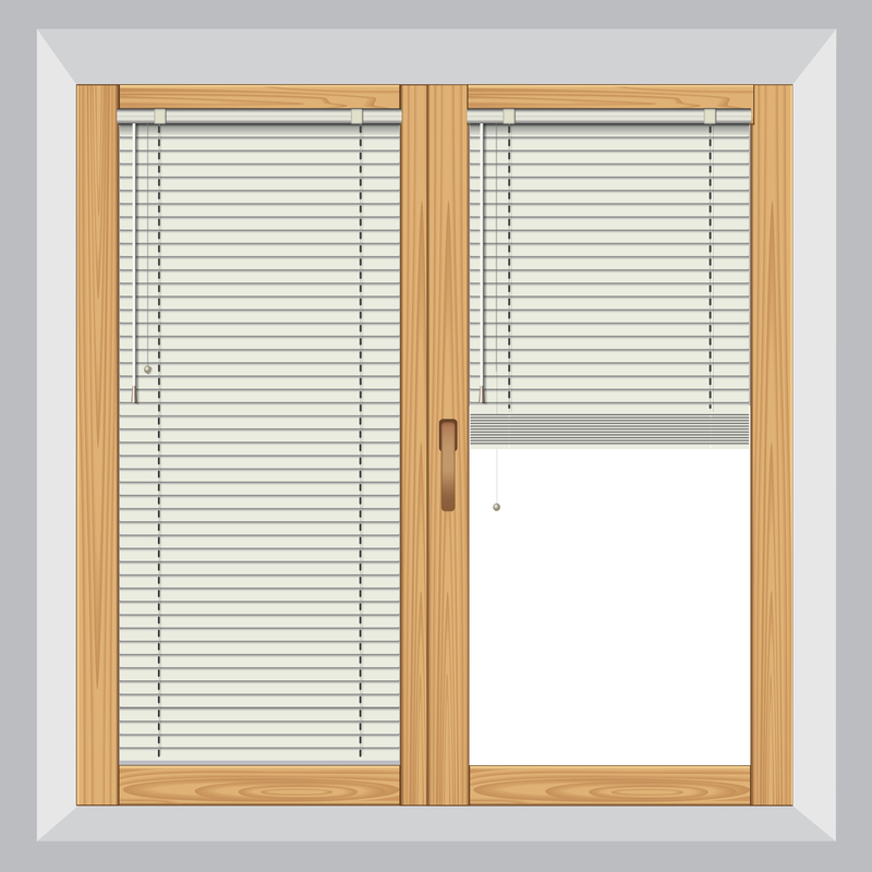 illustration of blinds on a window
