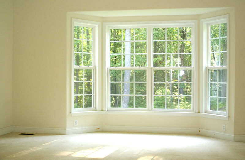 A bare bay window